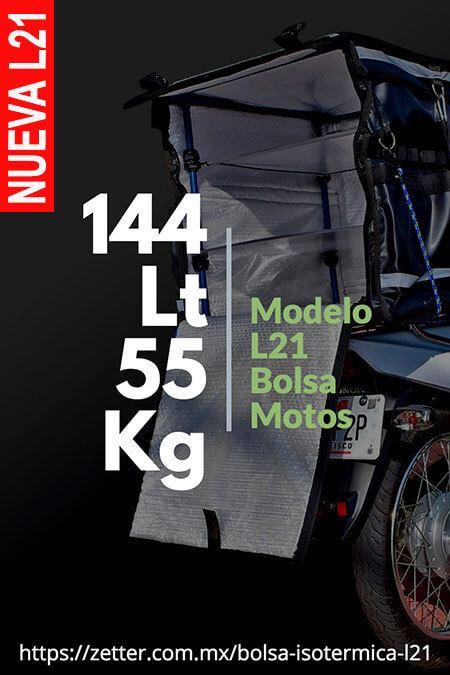 Contenedor térmico delivery motos