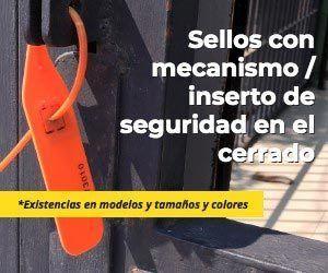 Sellos o cinchos de seguridad con inserto en el mecanismo de cierre