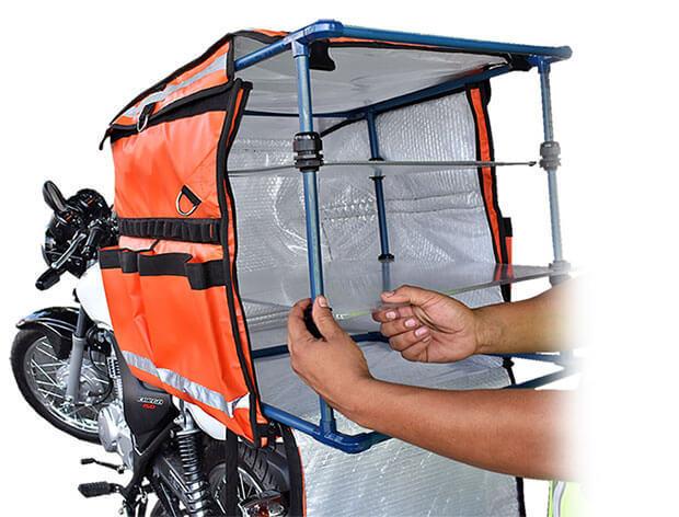 Bolsa isotermica para motocicletas de reparto.