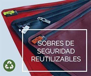 Sobres de alta seguridad reutilizables.