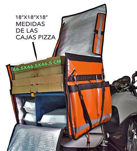 Medidas contenedor o mochila térmica uber eats.