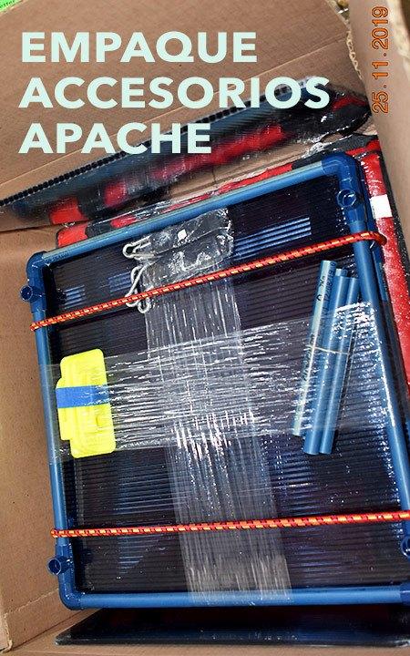 Accesorios y empaque de la mochila apache.