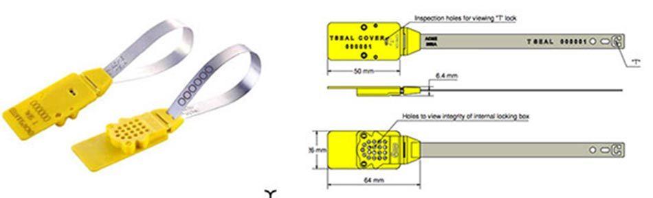 Infografía de un sello de seguridad en aluminio