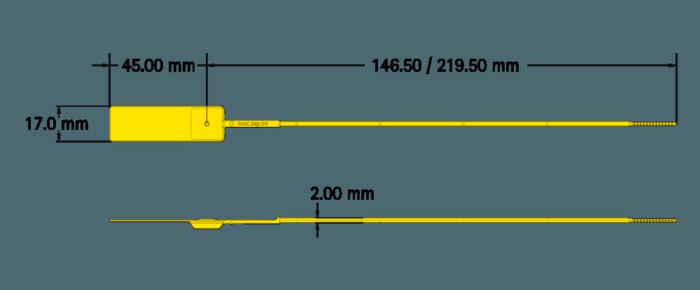 Infografía de los cinchos de seguridad inyectados en Poliamida.
