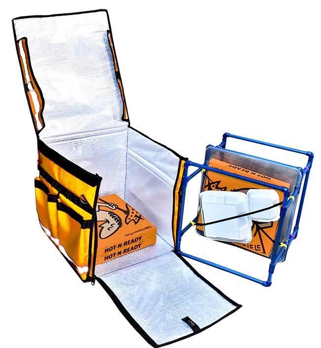 Accesorios de mochilas térmicas tipo Rappi.