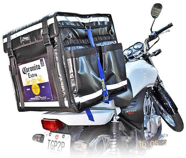 Mochila térmica para moto tipo Rappi o Uber