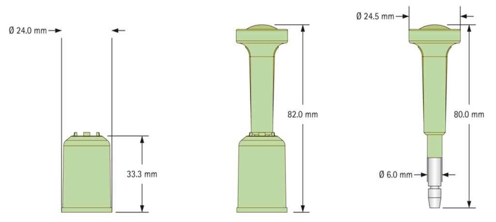 Infografía del sello de alta seguridad tipo perno.