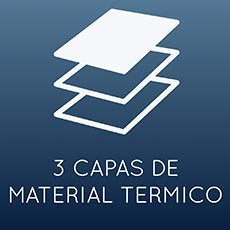 3 capas de material térmico.