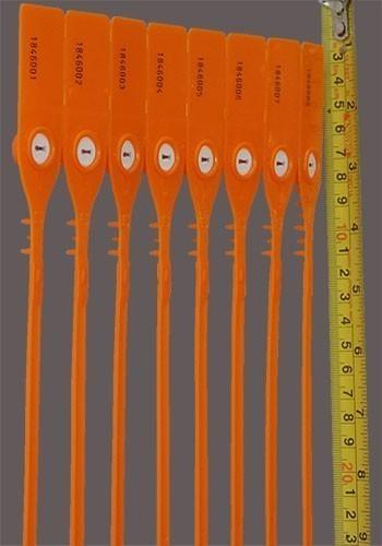 Tamaño y presentación por tiras de 10 precintos consecutivos.