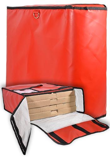 Bolsa pizza 4 cajas roja