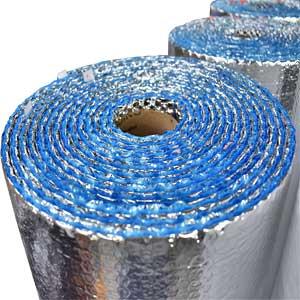 Aislante Térmico doble plateado con azul