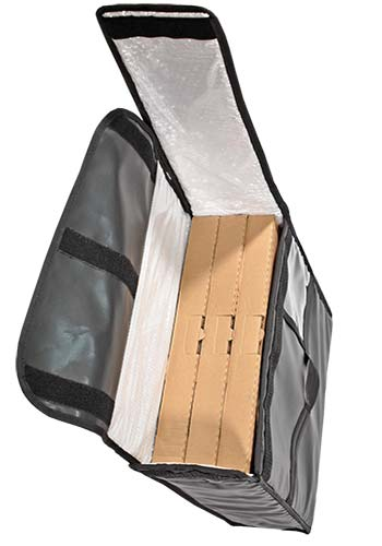 Bolsa para pizza 3 cajas resistente
