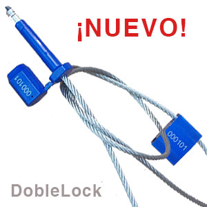 Sello de cable largo y doble seguridad.